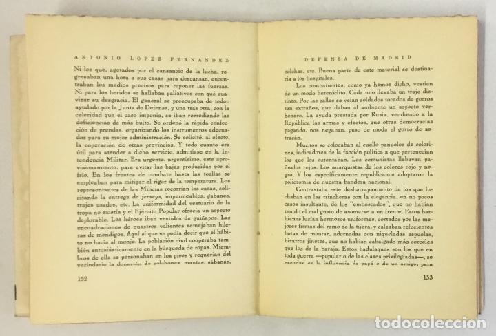 Libros de segunda mano: DEFENSA DE MADRID. Relato histórico. - LÓPEZ FERNÁNDEZ, Antonio. - Foto 4 - 160383462