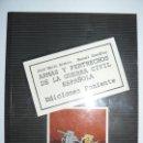 Libros de segunda mano: ARMAS Y PERTRECHOS DE LA GUERRA CIVIL ESPAÑOLA - ED. PONIENTE - AÑO 1981. Lote 161131858