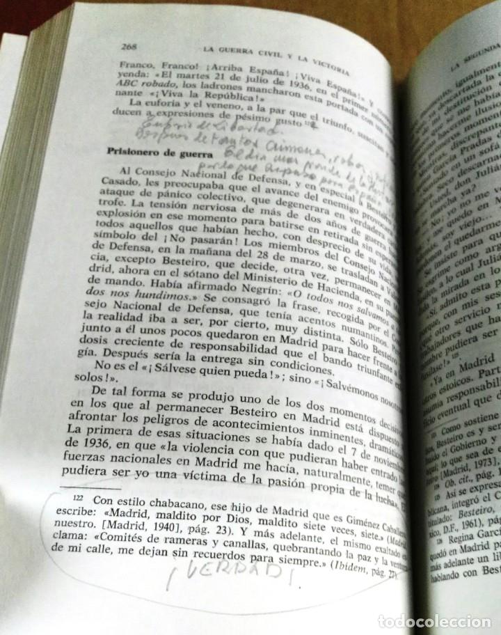 Libros de segunda mano: Guillermo Cabanellas, La Guerra Civil y la victoria, Tebas, Madrid, 1978 - Foto 5 - 161549866