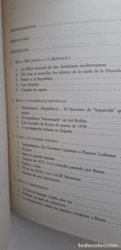 Libros de segunda mano: MUSSOLINI CONTRA LA II REPUBLICA- ISMAEL SAZ CAMPOS - Foto 5 - 166391998