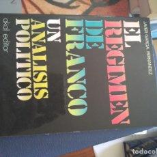 Libros de segunda mano: EL RÉGIMEN DE FRANCO. UN ANÁLISIS POLÍTICO | GARCÍA FERNÁNDEZ | AKAL 1976. Lote 167099368