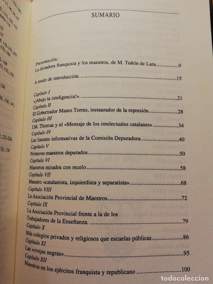 Libros de segunda mano: MAESTROS DEPURADOS EN BALEARES DURANTE LA GUERRA CIVIL (SANTIAGO MIRÓ) LLEONARD MUNTANER EDITOR - Foto 3 - 167580008