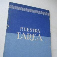 Libros de segunda mano: NUESTRA TAREA, EL MARXISMO Y EL ANTIMARXISMO VISTO POR JOSÉ ANTONIO- EDC: ARRIBA- MCMXXXIX. Lote 167975004