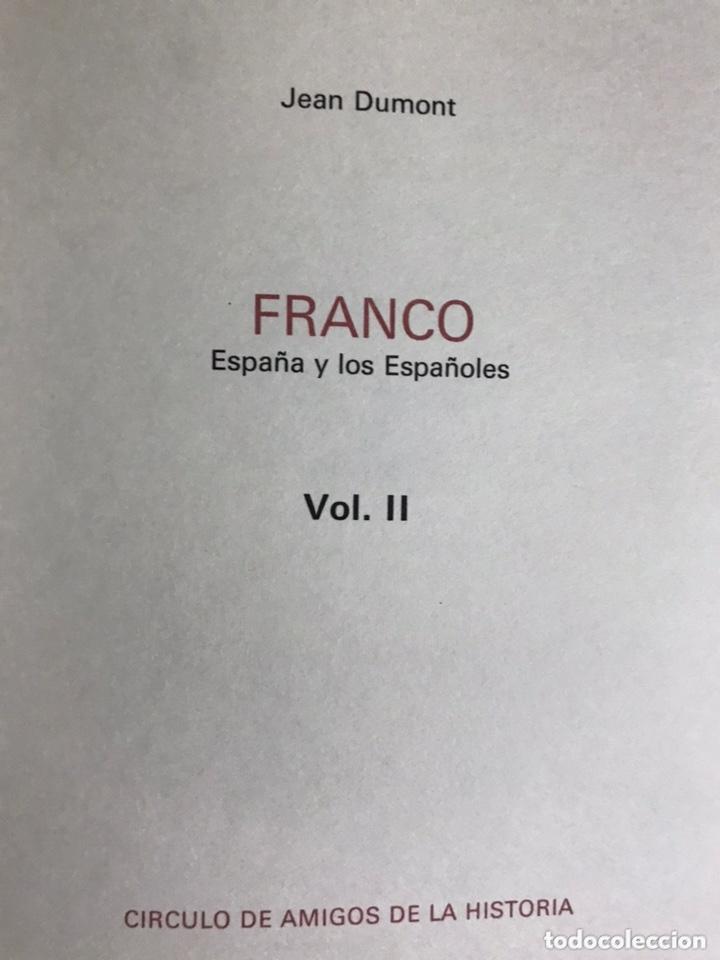 Libros de segunda mano: FRANCO ESPAÑA Y LOS ESPAÑOLES. JEAN DUMONT 1975 - Foto 4 - 173593493