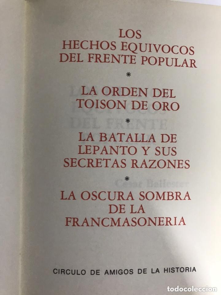 Libros de segunda mano: GRANDES ENIGMAS HISTÓRICOS ESPAÑOLES. El frente popular y otros - Foto 2 - 173594959