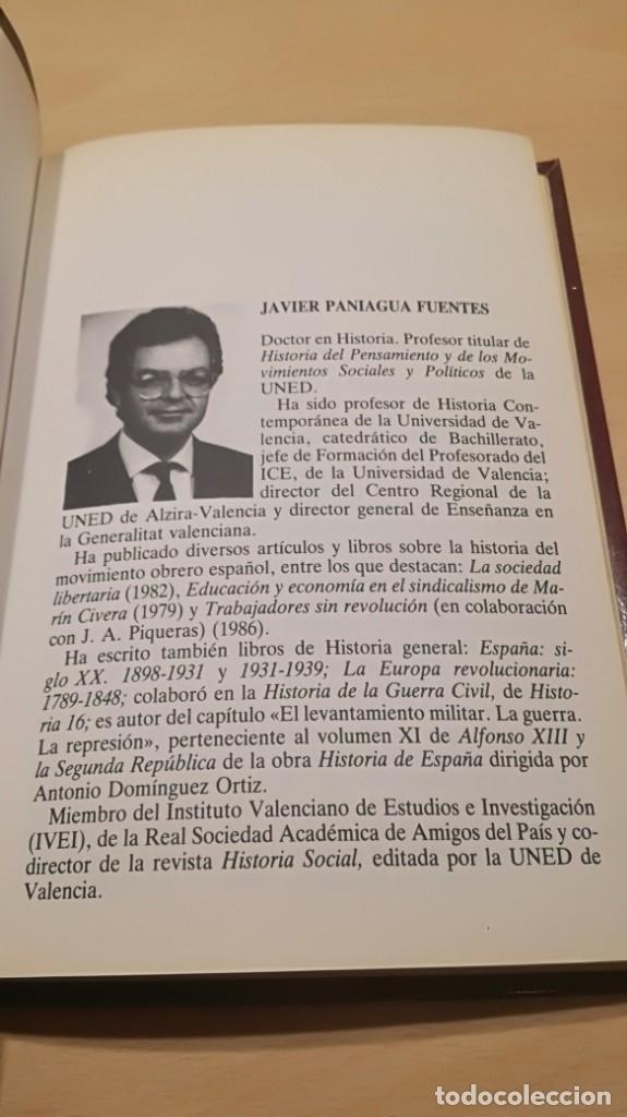 Libros de segunda mano: ANARQUISTAS Y SOCIALISTAS - JAVIER PANIAGUA - HISTORIA 16/ H201/ GUERRA CIVIL HISTORIA - Foto 7 - 173945479