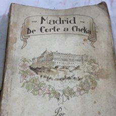 Libros de segunda mano: MADRID DE CORTE A CHEKA. 1ª EDICIÓN. AGUSTÍN DE FOXÁ, RÚSTICA ORIGINAL DESLUCIDA. Lote 174269415