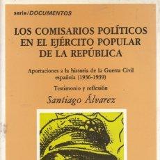 Libros de segunda mano: SANTIAGO ALVAREZ. LOS COMISARIOS POLÍTICOS EN EL EJÉRCITO POPULAR DE LA REPÚBLICA. SADA, 1989. Lote 174338153