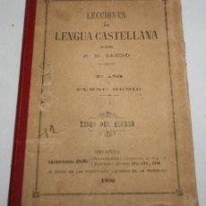 Libros de segunda mano: LECCIONES DE LENGUA CASTELLANA, 2º AÑO GRADO MEDIO, BRUÑO 1906, LIBRO DEL ALUMNO. Lote 175358469