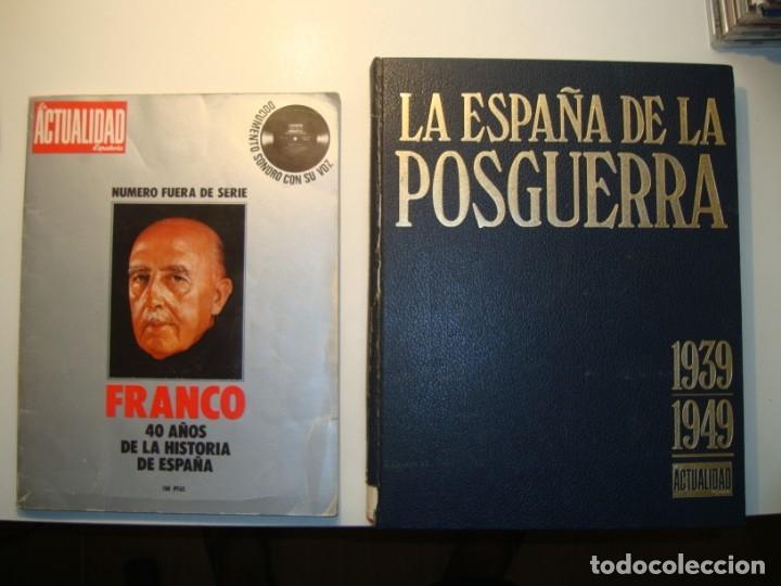 LA ESPAÑA DE LA POSGUERRA 1939-1949 + FRANCO 40 AÑOS DE LA HISTORIA DE ESPAÑA (CON FLEXI) ACTUALIDAD (Libros de Segunda Mano - Historia - Guerra Civil Española)