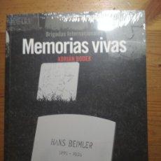 Libros de segunda mano: MEMORIAS VIVAS (BRIGADAS INTERNACIONALES) (GUERRA CIVIL, FRANQUISMO, REPÚBLICA). Lote 176503827