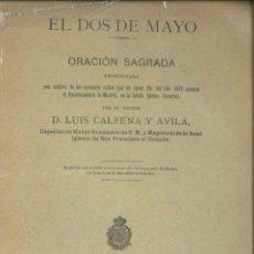 Libros de segunda mano: EL DOS DE MAYO ORACION SAGRADA 1898. Lote 178662955