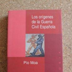 Libros de segunda mano: LOS ORÍGENES DE LA GUERRA CIVIL ESPAÑOLA. MOA (PÍO) MADRID, EDICIONES ENCUENTRO, 1999.. Lote 178960175