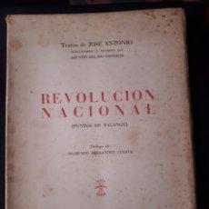 Libros de segunda mano: REVOLUCIÓN NACIONAL (PUNTOS DE FALANGE) TEXTOS DE JOSÉ ANTONIO. Lote 180111357