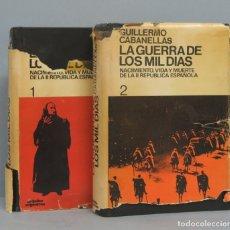 Libros de segunda mano: LA GUERRA DE LOS MIL DIAS. GUILLERMO CABANELLAS. 2 TOMOS. Lote 180385950