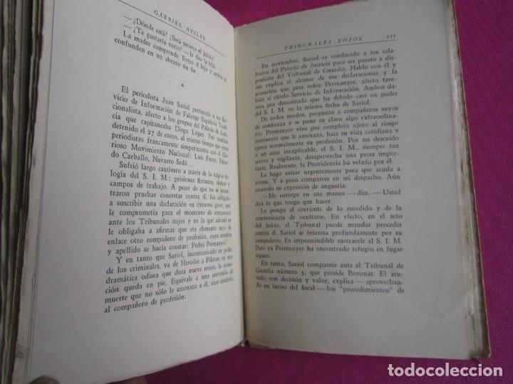 Libros de segunda mano: TRIBUNALES ROJOS VISTOS POR UN ABOGADO DEFENSOR GABRIEL AVILES AÑO 1939 - Foto 6 - 181139856