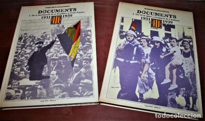 RECUPEREM LA NOSTRA HISTÒRIA DOCUMENTS 1931-1939 2 VOL. - 1976 - ED. 62 - EN CATALÁN - GRAN FORMATO (Libros de Segunda Mano - Historia - Guerra Civil Española)