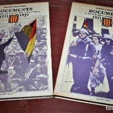 Libros de segunda mano: RECUPEREM LA NOSTRA HISTÒRIA DOCUMENTS 1931-1939 2 VOL. - 1976 - ED. 62 - EN CATALÁN - GRAN FORMATO. Lote 212091451