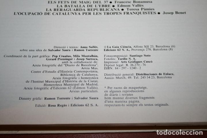 Libros de segunda mano: RECUPEREM LA NOSTRA HISTÒRIA DOCUMENTS 1931-1939 2 VOL. - 1976 - ED. 62 - EN CATALÁN - GRAN FORMATO - Foto 3 - 182225450