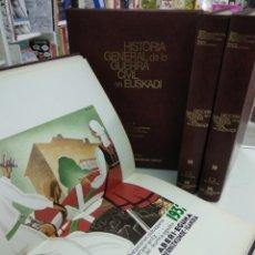 Libros de segunda mano: HISTORIA GENERAL DE LA GUERRA CIVIL EN EUSKADI 4 TOMOS GUERRA CIVIL COMPLETA ILUSTRADA PAIS VASCO. Lote 182521177