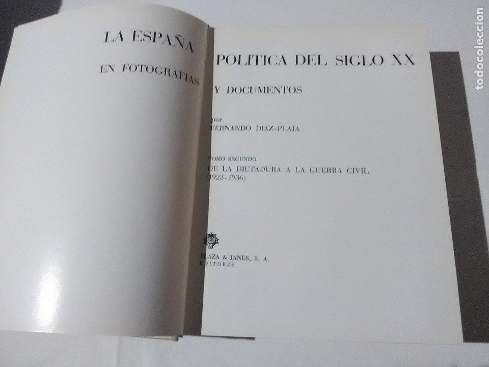 Libros de segunda mano: La España política del siglo XX, (Tomo II). F. Díaz-Plaja. P&J. 1970. - Foto 2 - 182700238