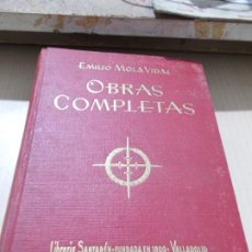 Libros de segunda mano: OBRAS COMPLETAS. E. MOLA VIDAL. 1.940. Lote 184120671