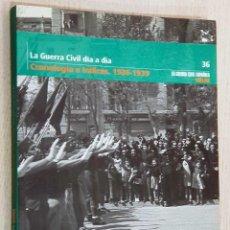 Libros de segunda mano: LA GUERRA CIVIL DIA A DIA. CRONOLOGÍA E ÍNDICES. 1936 - 1939. (COL. LA GUERRA CIVIL ESPAÑOLA MES A M. Lote 186135147