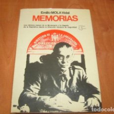 Libros de segunda mano: MEMORIAS , EMILIO MOLA VIDAL. Lote 186170450