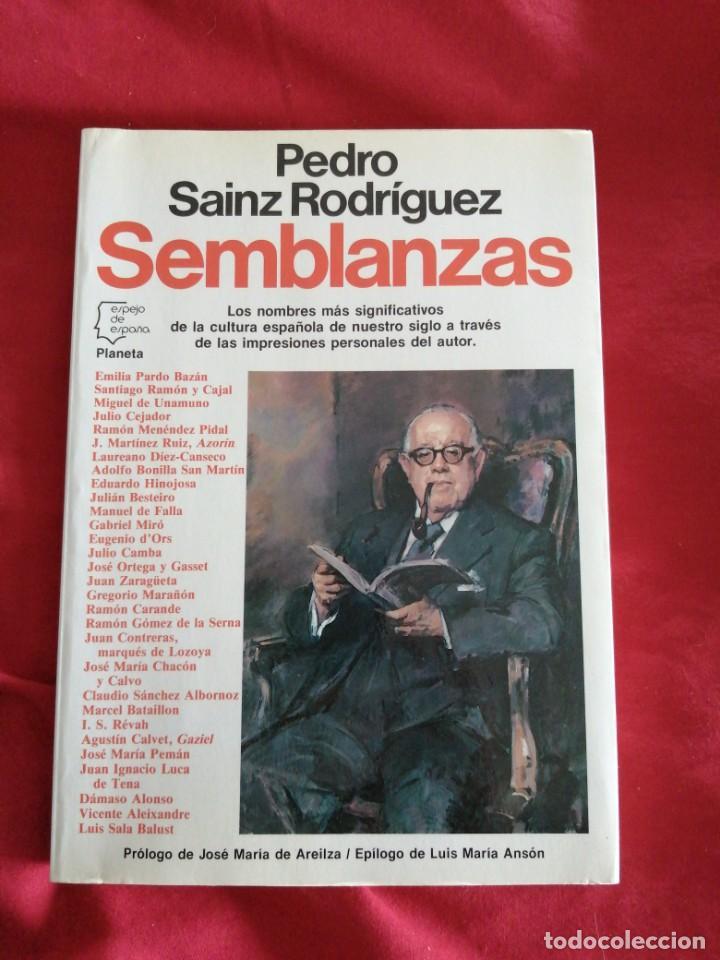 GUERRA CIVIL ESPAÑOLA. SEMBLANZAS. PEDRO SAINZ RODRIGUEZ. (Libros de Segunda Mano - Historia - Guerra Civil Española)