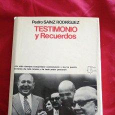 Libros de segunda mano: GUERRA CIVIL ESPAÑOLA. TESTIMONIO Y RECUERDOS. PEDRO SAINZ RODRIGUEZ. Lote 186301452