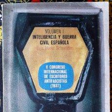 Libros de segunda mano: LUIS MARIO SCHNEIDER . II CONGRESO INTERNACIONAL DE ESCRITORES ANTIFASCISTAS (1937) I. Lote 187197311