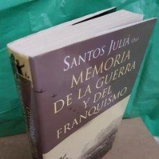 Libros de segunda mano: MEMORIA DE LA GUERRA Y DEL FRANQUISMO ( DIRECTOR SANTOS JULIA ). Lote 187220465