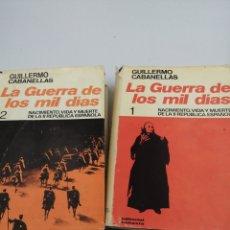 Libros de segunda mano: LA GUERRA DE LOS MIL DÍAS TOMO 1 Y 2. Lote 191796828