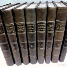 Libros de segunda mano: HISTORIA DE LA CRUZADA ESPAÑOLA COMPLETA 8 TOMOS 1ª EDICION, ARRARAS. GUERRA CIVIL.. Lote 192295146