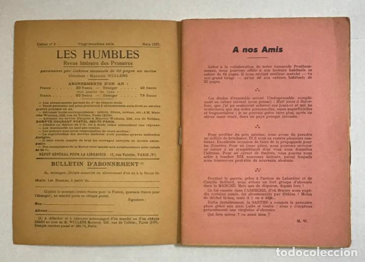 Libros de segunda mano: CATALOGNE, 1936-1937. - PRUDHOMMEAUX, André y Dori. GUERRA CIVIL - Foto 2 - 194000548