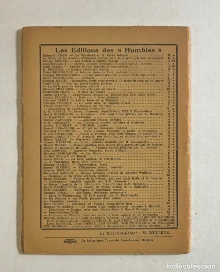 Libros de segunda mano: CATALOGNE, 1936-1937. - PRUDHOMMEAUX, André y Dori. GUERRA CIVIL - Foto 5 - 194000548