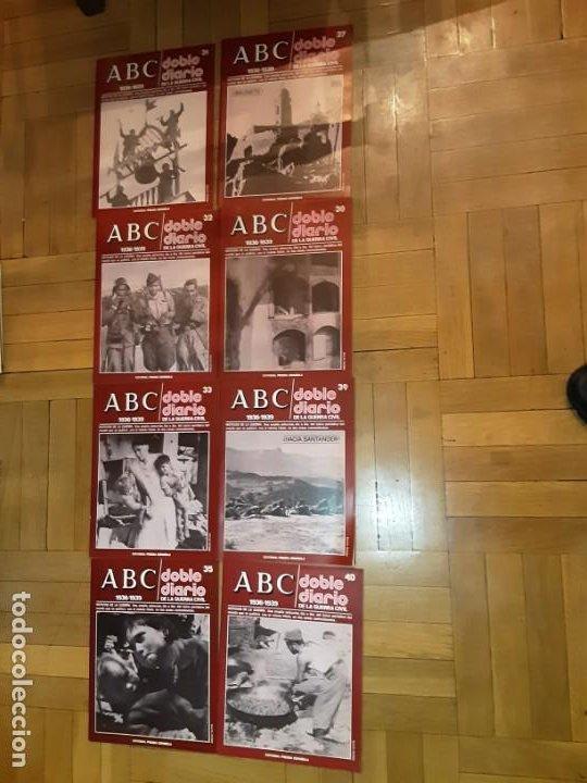ABC DOBLE DIARIO DE LA GUERRA CIVIL ESPAÑOLA LOTE DE 8 NRS. 31,32,33,35,37,38,39 Y 40 (Libros de Segunda Mano - Historia - Guerra Civil Española)