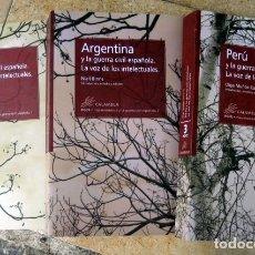 Libros de segunda mano: ECUADOR, PERÚ Y ARGENTINA Y LA GUERRA CIVIL ESPAÑOLA.LA VOZ DE LOS INTELECTUALES DE NIALL BINNS. 3 V. Lote 194518195