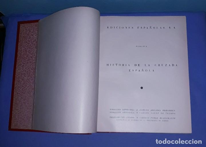 Libros de segunda mano: 7 TOMOS HISTORIA DE LA CRUZADA ESPAÑOLA EDICIONES ESPAÑOLAS AÑO 1939 1ª EDICION EXCELENTE COMPLETA - Foto 3 - 197468566