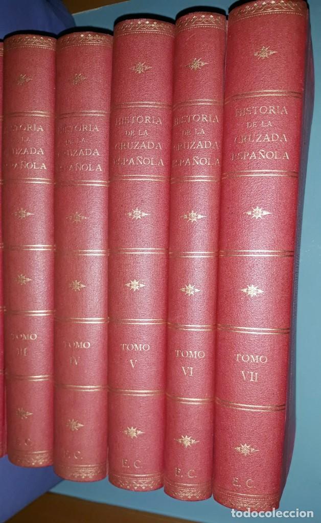 Libros de segunda mano: 7 TOMOS HISTORIA DE LA CRUZADA ESPAÑOLA EDICIONES ESPAÑOLAS AÑO 1939 1ª EDICION EXCELENTE COMPLETA - Foto 6 - 197468566