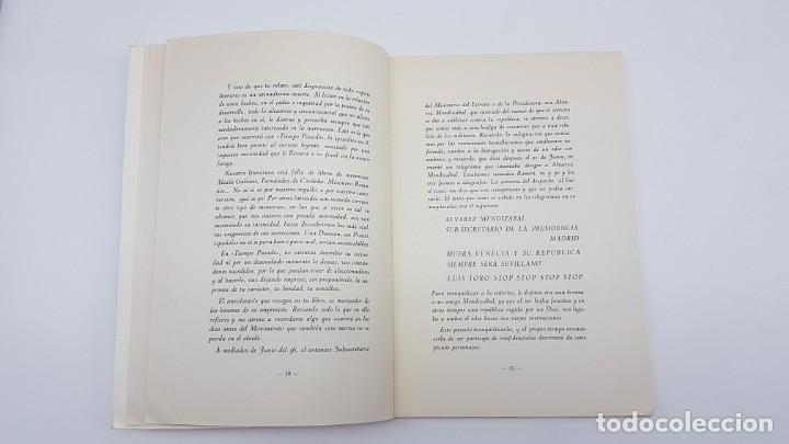 Libros de segunda mano: TIEMPO PASADO ( RELATO GUERRA CIVIL ) DUQUE MEDINACELI, SEVILLA 1971 - Foto 7 - 199826146