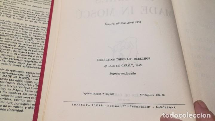Libros de segunda mano: HOMBRES MADE IN MOSCU - ENRIQUE CASTRO DELGADO - LUIS DE CARALT 1963 / T204 - Foto 7 - 205066070