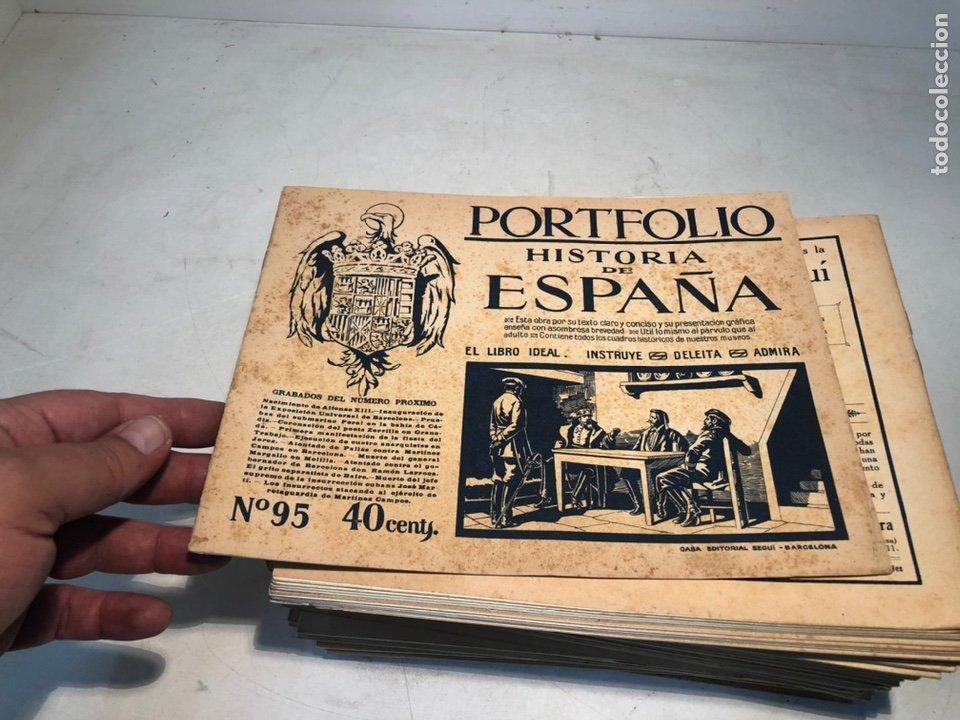 Libros de segunda mano: LOTE DE PORTFOLIO DE HISTORIA DE ESPAÑA, CASA EDITORIAL SEGUI. Nº2 AL Nº95. - Foto 3 - 205293526