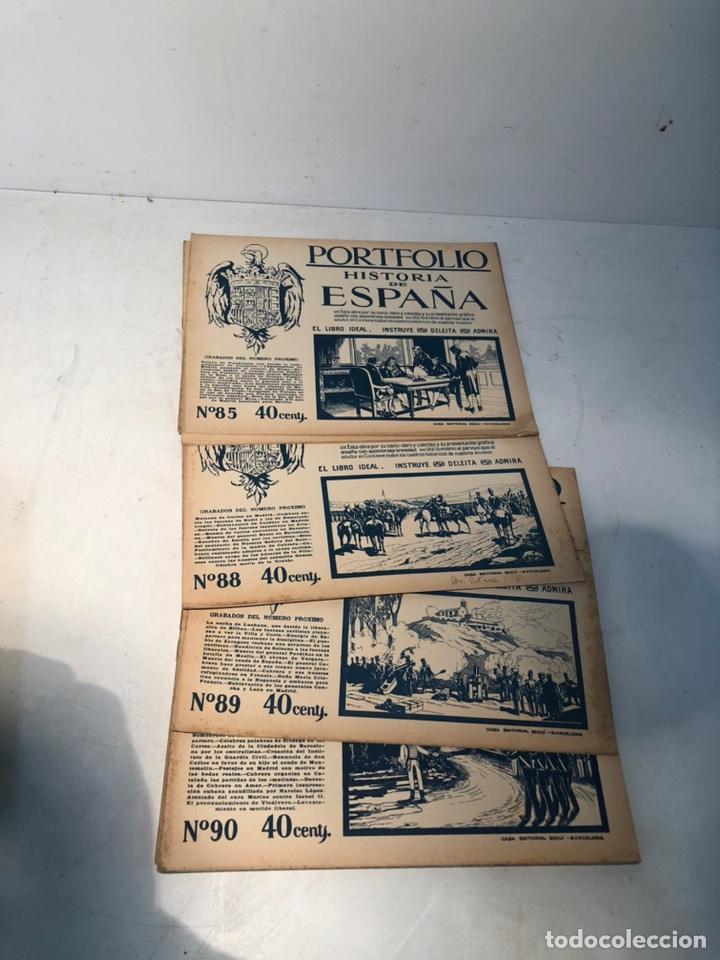 Libros de segunda mano: LOTE DE PORTFOLIO DE HISTORIA DE ESPAÑA, CASA EDITORIAL SEGUI. Nº2 AL Nº95. - Foto 4 - 205293526