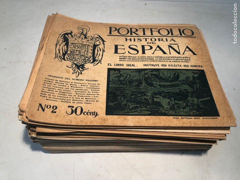 LOTE DE PORTFOLIO DE HISTORIA DE ESPAÑA, CASA EDITORIAL SEGUI. Nº2 AL Nº95. (Libros de Segunda Mano - Historia - Guerra Civil Española)