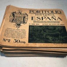 Libros de segunda mano: LOTE DE PORTFOLIO DE HISTORIA DE ESPAÑA, CASA EDITORIAL SEGUI. Nº2 AL Nº95.. Lote 205293526