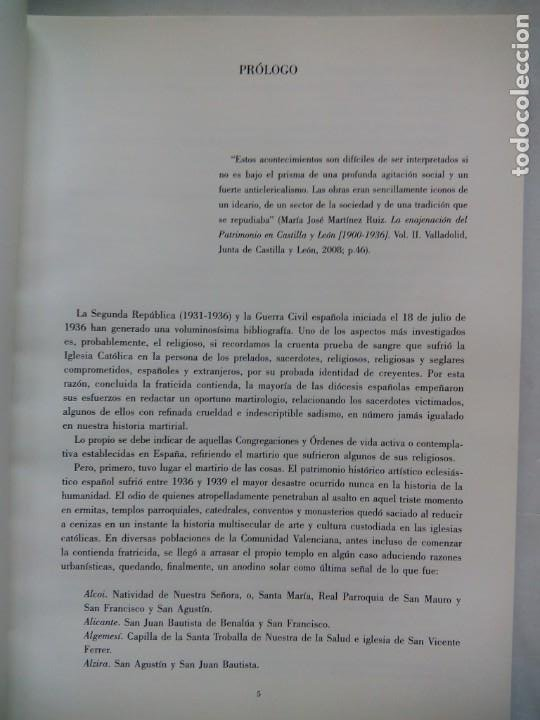 Libros de segunda mano: ESCULTURA PATRONAL ALICANTINA DESTRUIDA EN 1936. ANDRÉS DE SALES FERRI CHULIO. ESPAÑA 2000. - Foto 4 - 209066971
