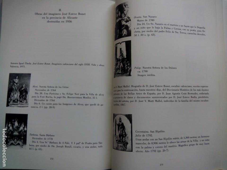 Libros de segunda mano: ESCULTURA PATRONAL ALICANTINA DESTRUIDA EN 1936. ANDRÉS DE SALES FERRI CHULIO. ESPAÑA 2000. - Foto 10 - 209066971
