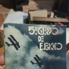 Libros de segunda mano: CUADERNILLO DEL QUINTO CUERPO DE EJÉRCITO DE ESTAMPAS DE LA GUERRA CIVIL. Lote 210403083