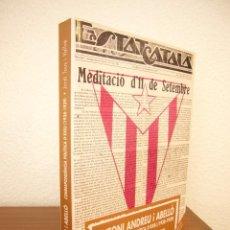 Libros de segunda mano: ANTONI ANDREU I ABELLÓ. CORRESPONDÈNCIA POLÍTICA D'EXILI 1938-1939 (EL MÈDOL, 1999) JORDI TOUS. Lote 211490802